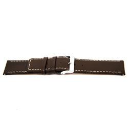 Correa de reloj de cuero genuino color marrón 32mm EX-J43