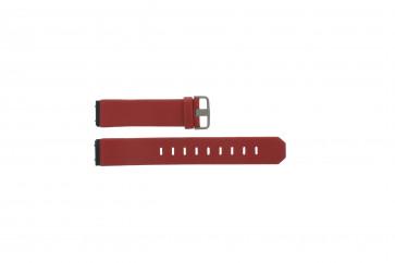 Jacob Jensen correa de reloj 600 serie  Piel Rojo 17mm