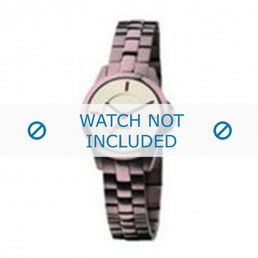 Mexx correa de reloj  Metal Púrpura 14mm