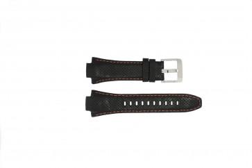 Correa de reloj Seiko 7L22-0AE0 / SNL017P1 / 4KG8JZ /SNL021P9 Cuero Negro 15mm