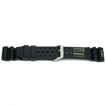 Correa de reloj Universal XF13 Caucho Negro 18mm