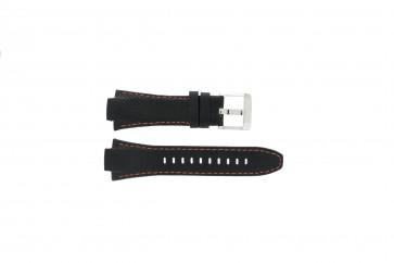 Correa de reloj Seiko 7T62-0ED0 / H023 00C0 / SNJ007P Cuero Negro 15mm