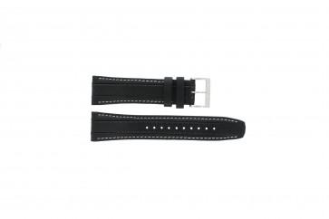 Correa de reloj Seiko 7T62-0HL0 / SNAB55P1 Cuero Negro 24mm