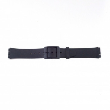 Correa de reloj Swatch P51 Caucho Negro 17mm