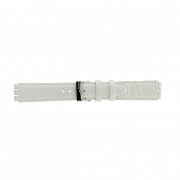 Correa para relojes Swatch de cuero genuino color blanco 17mm 21414