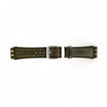 Correa de reloj Swatch SC14.11 Cuero Verde 19mm