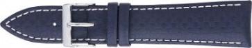 Correa de carbono azul oscuro con costuras blancas 24mm 321