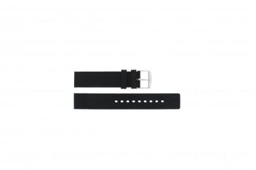 Correa de reloj 21901.01.18 / 6826 Silicona Negro 18mm