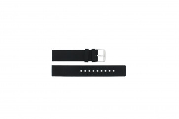 Correa de reloj 6826 Silicona Negro 20mm