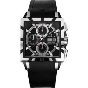 Correa de reloj Edox 348349-01105 / 222193 Caucho Negro 27mm