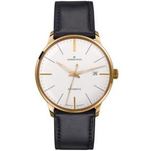 Correa de reloj Junghans 42050-6249 / 027/7312 Cuero Negro 20mm