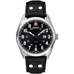 Correa de reloj Swiss Military Hanowa 06-4181.04.007 Cuero Negro 22mm
