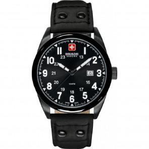 Correa de reloj Swiss Military Hanowa 06-4181.13.007 Cuero Negro 22mm