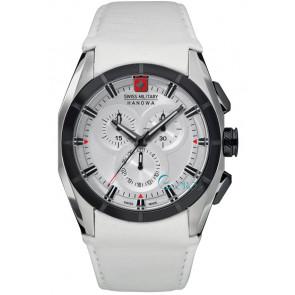 Correa de reloj Swiss Military Hanowa 06-4191.33.001 Cuero Blanco