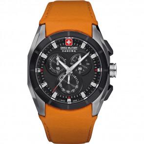 Correa de reloj Swiss Military Hanowa 06-4191.33.007.79 Cuero Naranja