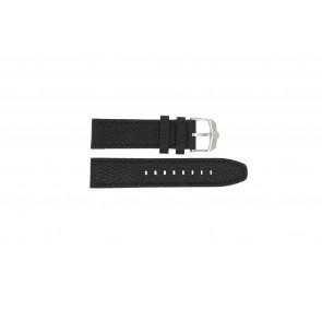 Swiss Military Hanowa correa de reloj 06-4224.04.007 Cuero Negro 22mm + costura negro