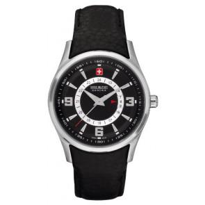Correa de reloj Swiss Military Hanowa 06-6155.04.007 Cuero Negro