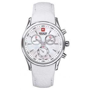 Correa de reloj Swiss Military Hanowa 06.6156.04.001-87 Cuero Blanco