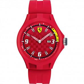 Correa de reloj Ferrari 0830007 / SF689300005 Caucho Rojo 22mm