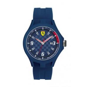 Ferrari correa de reloj SF101.4 / 0830067 / SF689300097 / Scuderia Caucho Azul  22mm