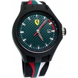 Ferrari correa de reloj SF101.5 / 0830070 / SF689300050 Caucho Negro 22mm