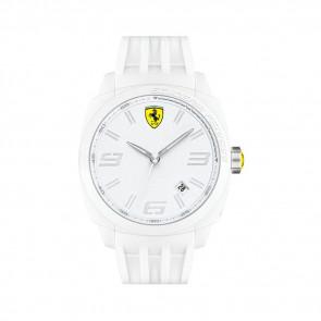 Ferrari correa de reloj SF113.1 / 0830113 / SF689300066 / Scuderia Caucho Blanco 24mm