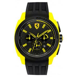 Ferrari correa de reloj SF114.1-0830117-SF689300065 / Scuderia Caucho Negro 24mm