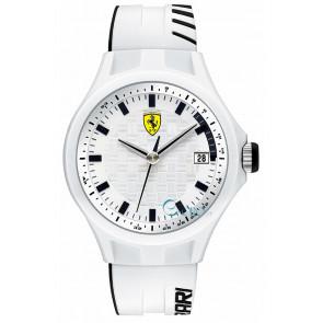 Ferrari correa de reloj SF101.6 / 0830124 / SF689300071 / Scuderia Silicona Blanco 22mm