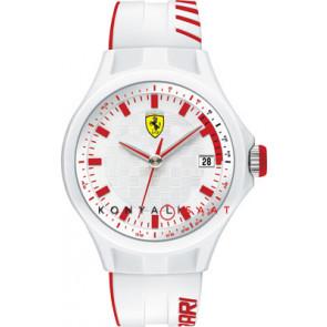 Ferrari correa de reloj SF101.6 / 0830127 / SF689300079 / Scuderia Caucho Blanco 22mm