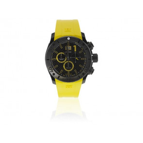 Edox correa de reloj 10020 37N NJ2 Caucho Amarillo