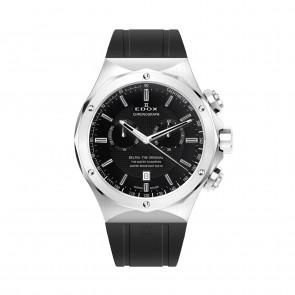 Edox correa de reloj 10107-RUB Caucho Negro