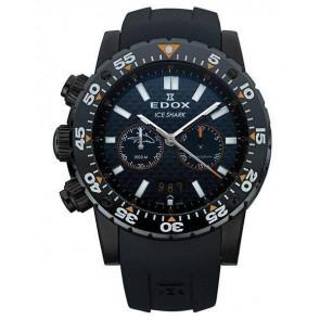 Correa de reloj Edox 10301 / Loc-22 Caucho Negro
