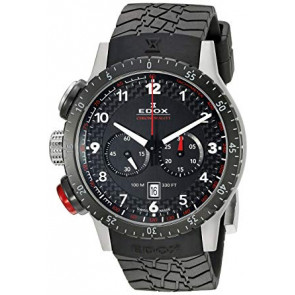 Correa de reloj Edox 10305 Caucho Negro 23mm
