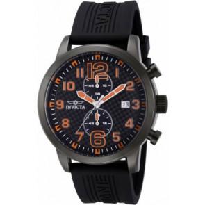 Correa de reloj Invicta 11244.01 Caucho Negro 24mm