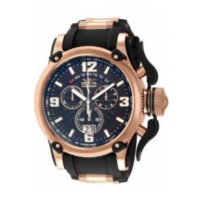 Correa de reloj Invicta 12434 Silicona Negro 26mm