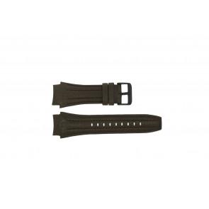 Police correa de reloj 13891JSB-12 Cuero Marrón 24mm + costura marrón