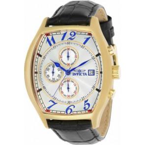 Correa de reloj Invicta 14330.01 Cuero Negro 22mm