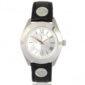 TOV Essentials correa de reloj 1455 / TOV Cuero Negro 18mm + costura negro