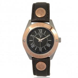 TOV Essentials correa de reloj 1459 / TOV Cuero Gris 18mm + costura gris