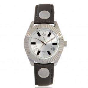 TOV Essentials correa de reloj 1460 / TOV Cuero Gris 18mm + costura gris