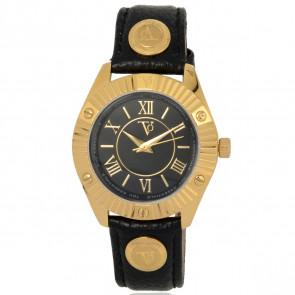 TOV Essentials correa de reloj 1461 / TOV Cuero Negro 18mm + costura negro