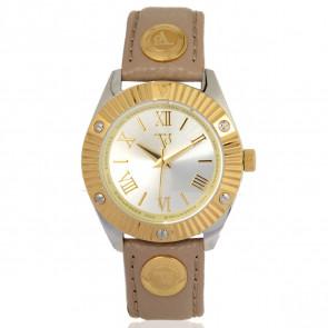 TOV Essentials correa de reloj 1463 / TOV Cuero Marrón claro 18mm + costura beige