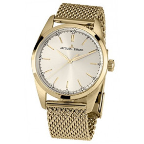 Jacques Lemans correa de reloj 1559C Metal Chapado en oro 20mm