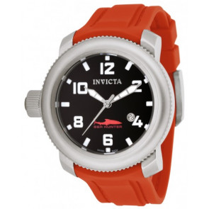 Correa de reloj Invicta 1691 Sea Hunter Silicona Rojo