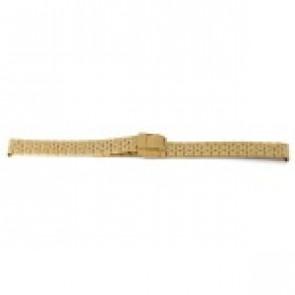 Correa de reloj Prisma 1691 Acero inoxidable Chapado en oro 16mm