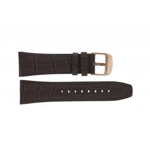 Lotus correa de reloj 18015 Cuero Marrón 26mm + costura marrón