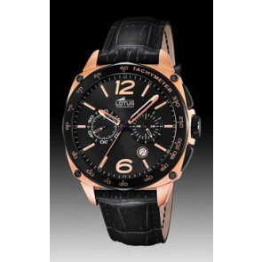 Horlogeband Lotus 9993-3 Leder Zwart