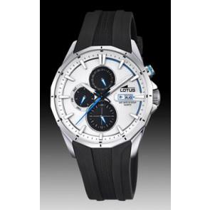 Lotus correa de reloj 18320/1 Silicona Negro