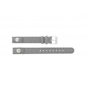 Lacoste correa de reloj 2000385 / LC-05-3-14-0009 / GR Cuero Gris 12mm + costura gris