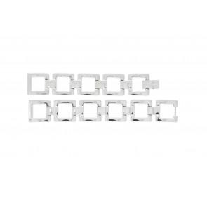 Lacoste correa de reloj 2000490 / LC-05-3-18-0161 Metal Plateado 13mm